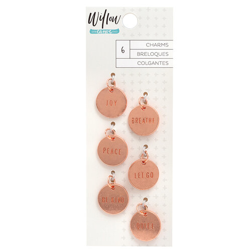 1 Canoe 2 - Willow Collection - Stamped Metal Charms with Copper Metallic Accents