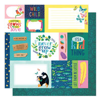 American Crafts - Never Grow Up Collection - 12 x 12 Double Sided Paper - Forever Young