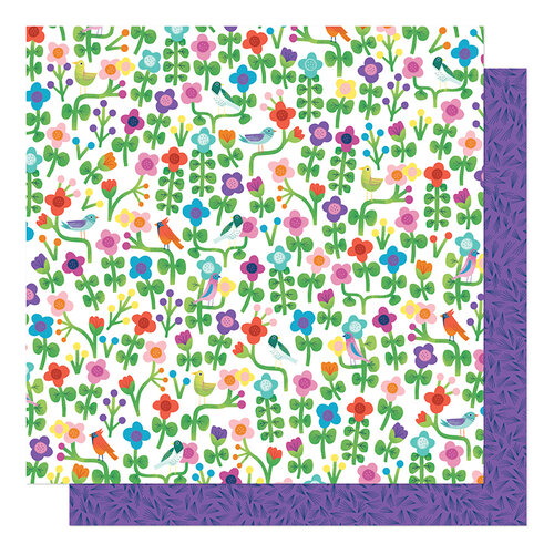 American Crafts - Never Grow Up Collection - 12 x 12 Double Sided Paper - Grow Wild