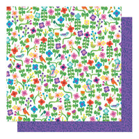 Shimelle Laine - Never Grow Up Collection - 12 x 12 Double Sided Paper - Grow Wild