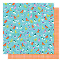 American Crafts - Never Grow Up Collection - 12 x 12 Double Sided Paper - Dawn Chorus