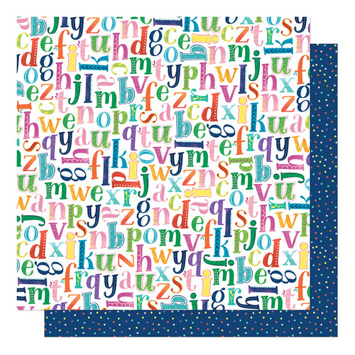 Shimelle Laine - Never Grow Up Collection - 12 x 12 Double Sided Paper - Pick A Letter
