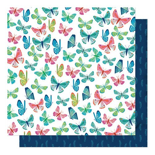 American Crafts - Never Grow Up Collection - 12 x 12 Double Sided Paper - Flutter By