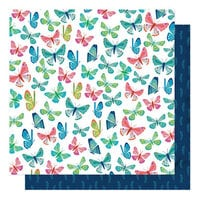 Shimelle Laine - Never Grow Up Collection - 12 x 12 Double Sided Paper - Flutter By