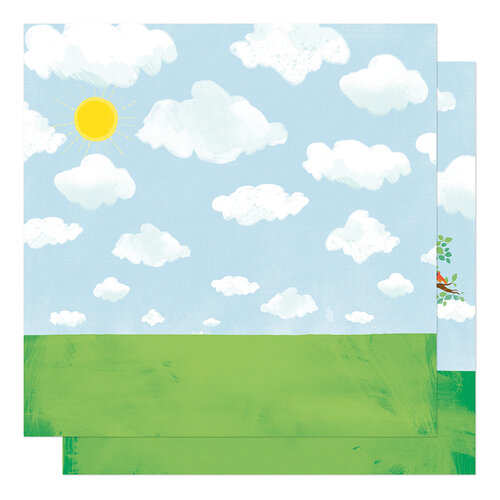 American Crafts - Never Grow Up Collection - 12 x 12 Double Sided Paper - Treehouse Dreams