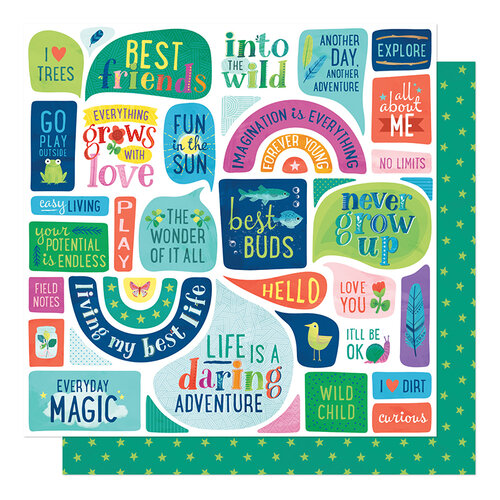 Shimelle Laine - Never Grow Up Collection - 12 x 12 Double Sided Paper - Everyday Magic