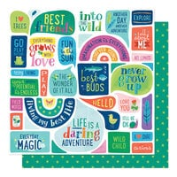 American Crafts - Never Grow Up Collection - 12 x 12 Double Sided Paper - Everyday Magic