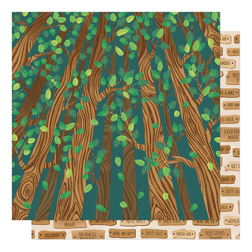 American Crafts - Never Grow Up Collection - 12 x 12 Double Sided Paper - Climb Trees