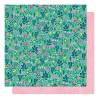 Shimelle Laine - Never Grow Up Collection - 12 x 12 Double Sided Paper - Flower Meadow