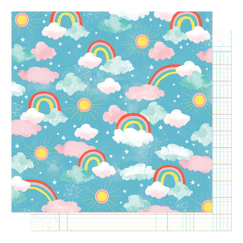 Shimelle Laine - Never Grow Up Collection - 12 x 12 Double Sided Paper - Enchanted Sky