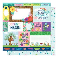 American Crafts - Never Grow Up Collection - 12 x 12 Double Sided Paper - Dreams Come True