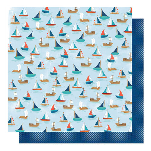 American Crafts - Never Grow Up Collection - 12 x 12 Double Sided Paper - Sail Away