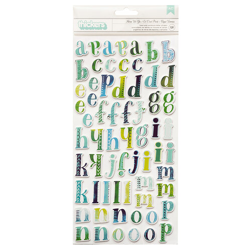 American Crafts - Never Grow Up Collection - Thickers - Alpha - Foam - Here We Go