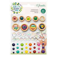 Shimelle Laine - Never Grow Up Collection - Embellishments - Mini with Foil Accents