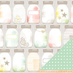 American Crafts - Dear Lizzy Neapolitan Collection - 12 x 12 Double Sided Paper - Twinkling Lights
