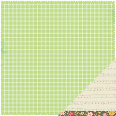 American Crafts - Dear Lizzy Neapolitan Collection - 12 x 12 Double Sided Paper - Heart Song