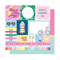 American Crafts - Here and Now Collection - 12 x 12 Double Sided Paper - Sun and Fun