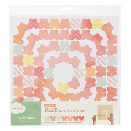 American Crafts - Dear Lizzy Neapolitan Collection - Flutterbys - Stitched Paper Garland - Whimsical Whirl Butterflies