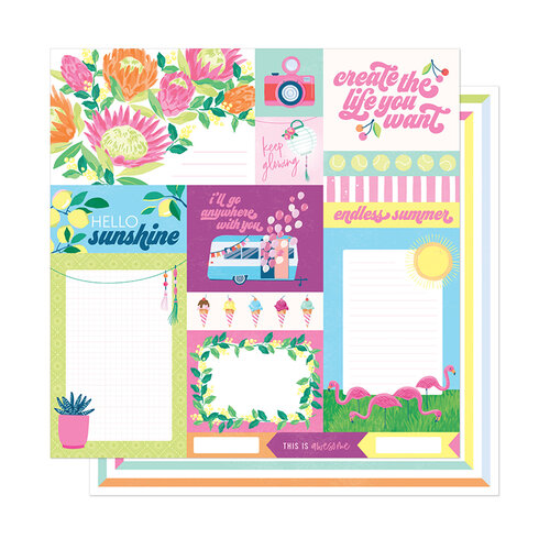 American Crafts - Here and Now Collection - 12 x 12 Double Sided Paper - Endless Summer