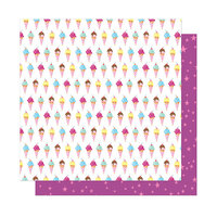 Dear Lizzy - Here and Now Collection - 12 x 12 Double Sided Paper - Sweet Summer
