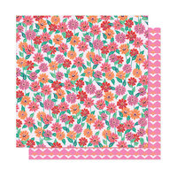 American Crafts - Here and Now Collection - 12 x 12 Double Sided Paper - Sunshine Feeling