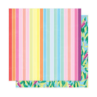 American Crafts - Here and Now Collection - 12 x 12 Double Sided Paper - Summer Vibes