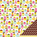 American Crafts - Fresh Squeezed Collection - 12 x 12 Double Sided Paper - Peach Preserves