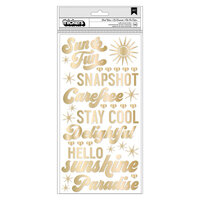 American Crafts - Here and Now Collection - Thickers - Puffy Vinyl - Phrase - Heat Wave with Foil Accents