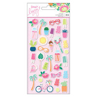 American Crafts - Here and Now Collection - Puffy Stickers