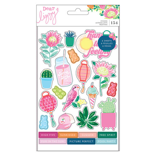 Dear Lizzy - Here and Now Collection - Chipboard Sticker Book with Foil Accents