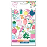 American Crafts - Here and Now Collection - Chipboard Sticker Book with Foil Accents