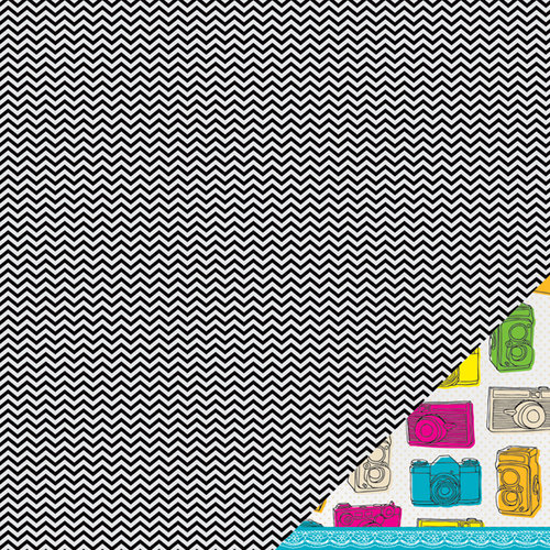 American Crafts - Amy Tangerine Collection - Sketchbook - 12 x 12 Double Sided Paper - Padma's Pattern