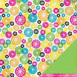 American Crafts - Amy Tangerine Collection - Sketchbook - 12 x 12 Double Sided Paper - Charlotte's Shade