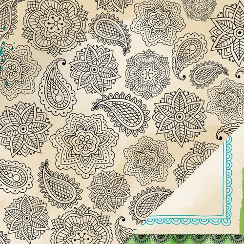 American Crafts - Amy Tangerine Collection - Sketchbook - 12 x 12 Double Sided Paper - Inda Ink