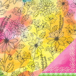American Crafts - Amy Tangerine Collection - Sketchbook - 12 x 12 Double Sided Paper - Harper's Hue