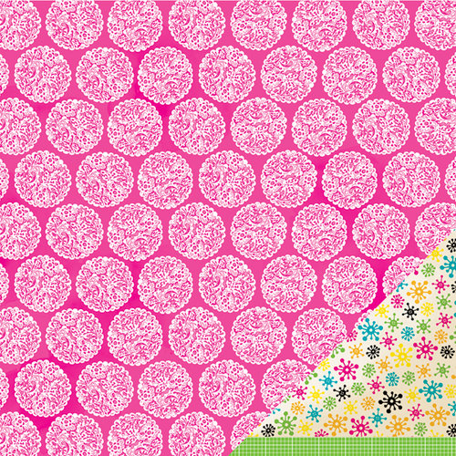 American Crafts - Amy Tangerine Collection - Sketchbook - 12 x 12 Double Sided Paper - Magenta Musings