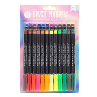 American Crafts - Brush Markers - Rainbow Mist