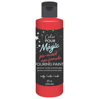 American Crafts - Color Pour Magic Collection - Pre-Mixed Pouring Paint - Ruby