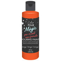 American Crafts - Color Pour Magic Collection - Pre-Mixed Pouring Paint - Orange