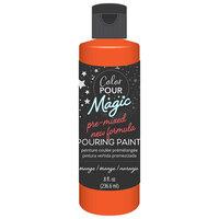 American Crafts - Color Pour Magic Collection - Pre-Mixed Pouring Paint - Orange