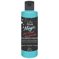 American Crafts - Color Pour Magic Collection - Pre-Mixed Pouring Paint - Turquoise