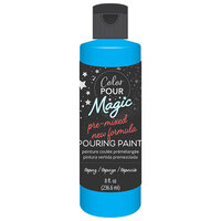 American Crafts - Color Pour Magic Collection - Pre-Mixed Pouring Paint - Topaz