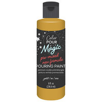 American Crafts - Color Pour Magic Collection - Pre-Mixed Pouring Paint - Metallic Gold