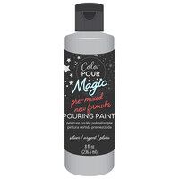 American Crafts - Color Pour Magic Collection - Pre-Mixed Pouring Paint - Metallic Silver