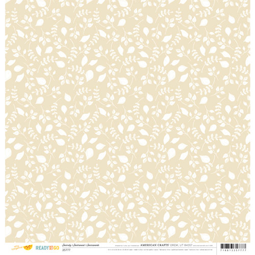 American Crafts - Amy Tangerine Collection - Ready Set Go - 12 x 12 Double Sided Paper - Sincerely