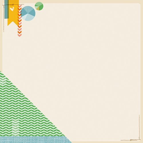 American Crafts - Amy Tangerine Collection - Ready Set Go - 12 x 12 Double Sided Paper - Why Thank You
