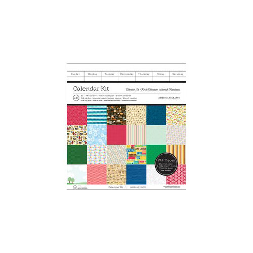 American Crafts - 8 x 8.5 Calendar Kit