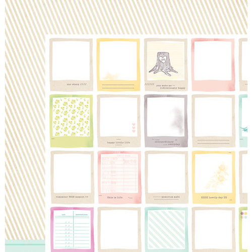 American Crafts - Dear Lizzy 5th and Frolic Collection - 12 x 12 Double Sided Paper - Little Moments Lane