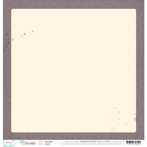 American Crafts - Dear Lizzy 5th and Frolic Collection - 12 x 12 Double Sided Paper - 6th and Maple