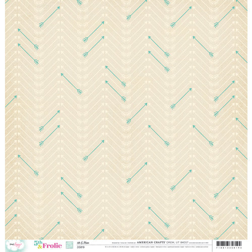 American Crafts - Dear Lizzy 5th and Frolic Collection - 12 x 12 Double Sided Paper - 6th and Main